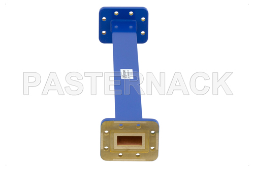 WR-90 Commercial Grade Straight Waveguide Section 12 Inch Length with CPR-90G Flange Operating from 8.2 GHz to 12.4 GHz
