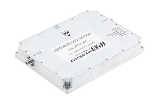 43 dB Gain, 20 Watt Psat, 6 GHz to 10 GHz, High Power GaN Amplifier, SMA, Class AB