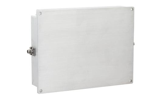 43 dB Gain, 20 Watt Psat, 8 GHz to 12 GHz, High Power GaN Amplifier, SMA, Class AB