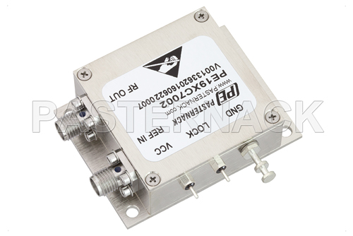 2 GHz Phase Locked Oscillator, 10 MHz External Ref., Phase Noise -100 dBc/Hz, SMA