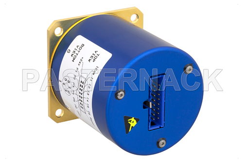 SP6T 0.05 dB Low Insertion Loss Repeatability Relay Latching Switch, Terminated, DC to 40 GHz, 5W, 24V, Indicators, Self Cut Off, 2.92mm
