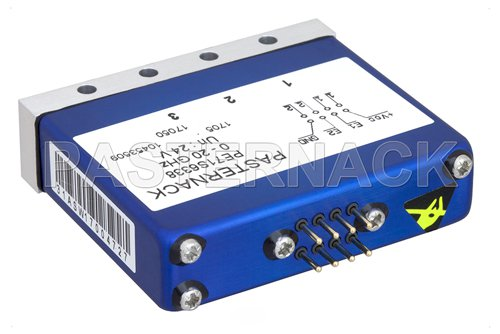 SPDT 0.03 dB Low Insertion Loss Repeatability Relay Latching Switch, DC to 20 GHz, 1W, 24V, Indicators, Self Cut Off, TTL, Terminated, SMA