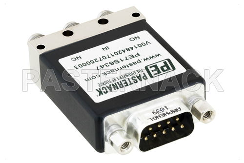 SPDT Electromechanical Relay Failsafe Switch, DC to 18 GHz, up to 90W, 12V, SMA