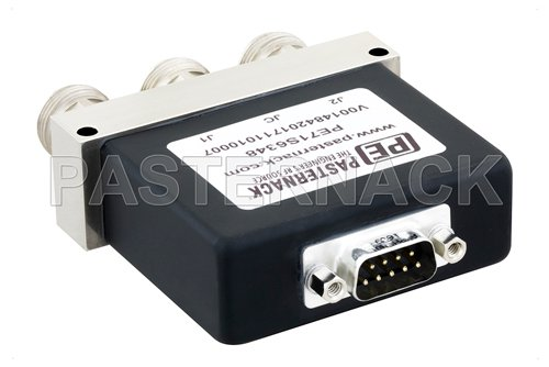 SPDT Electromechanical Relay Failsafe Switch, DC to 12 GHz, up to 600W, 12V, N