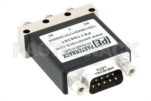 SPDT Electromechanical Relay Failsafe Switch, DC to 18 GHz, up to 90W, 12V, Indicators, SMA