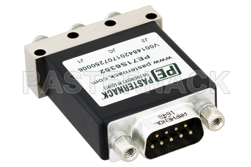 SPDT Electromechanical Relay Latching Switch, DC to 18 GHz, up to 90W, 12V, SMA