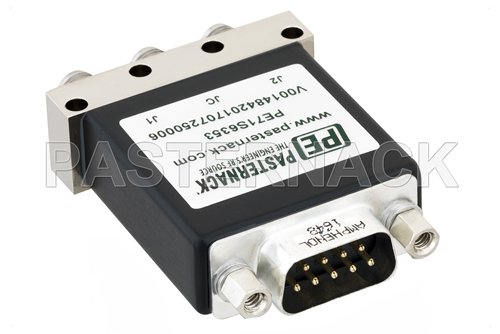 SPDT Electromechanical Relay Latching Switch, DC to 18 GHz, up to 90W, 12V, Indicators, SMA