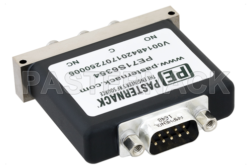 SPDT Electromechanical Relay Failsafe Switch, Terminated, DC to 18 GHz, up to 90W, 12V, SMA