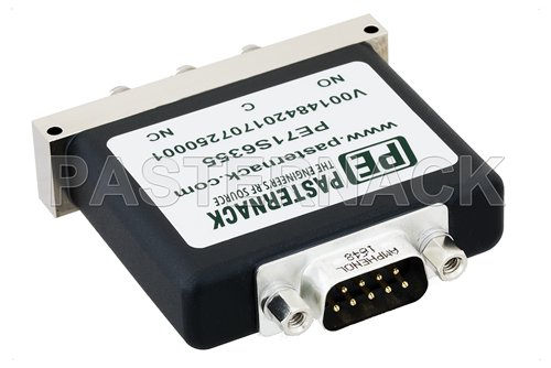 SPDT Electromechanical Relay Failsafe Switch, Terminated, DC to 18 GHz, up to 90W, 28V, SMA