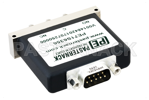 SPDT Electromechanical Relay Failsafe Switch, Terminated, DC to 26.5 GHz, up to 90W, 12V, SMA