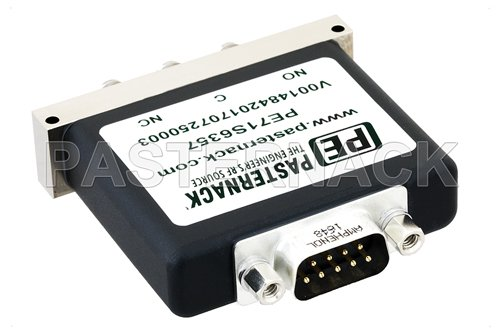 SPDT Electromechanical Relay Failsafe Switch, Terminated, DC to 26.5 GHz, up to 90W, 28V, SMA