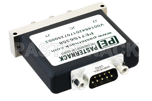 SPDT Electromechanical Relay Latching Switch, Terminated, DC to 18 GHz, up to 90W, 12V, SMA