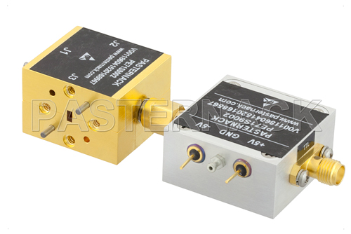 WR-12 PIN Diode SPDT Waveguide Switch Operating From 60 GHz to 90 GHz E, V Band With UG-387/U Flange