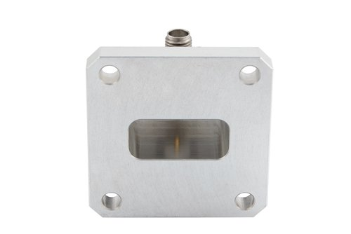 WR-90 Square Type Flange to SMA Female Waveguide to Coax Adapter Operating From 8.2 GHz to 12.4 GHz, X Band