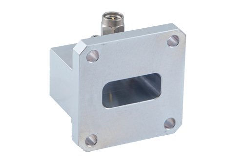 WR-90 Square Type Flange to SMA Male Waveguide to Coax Adapter Operating From 8.2 GHz to 12.4 GHz, X Band