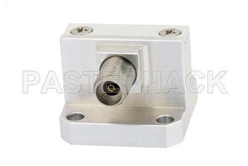 WR-42 Square Type Flange to 2.92mm Female Waveguide to Coax Adapter Operating From 18 GHz to 26.5 GHz, K Band