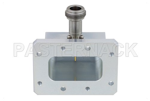 WR-159 CMR-159 Flange to N Female Waveguide to Coax Adapter Operating From 4.9 GHz to 7.05 GHz, C Band