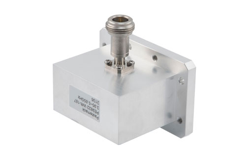 WR-187 CMR-187 Flange to N Female Waveguide to Coax Adapter Operating From 3.95 GHz to 5.85 GHz, C Band