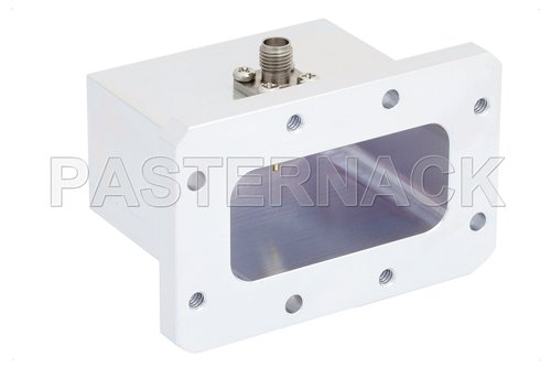WR-187 CMR-187 Flange to SMA Female Waveguide to Coax Adapter Operating From 3.95 GHz to 5.85 GHz, C Band