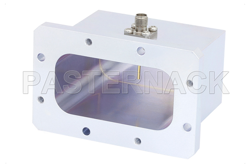 WR-229 CMR-229 Flange to SMA Female Waveguide to Coax Adapter Operating From 3.3 GHz to 4.9 GHz, S-C Band