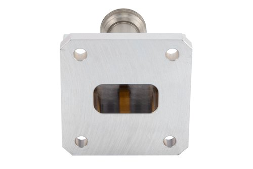 WR-75 Square Type Flange to End Launch N Female Waveguide to Coax Adapter Operating From 10 GHz to 15 GHz, X-Ku Band