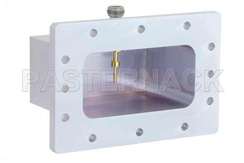 WR-430 CMR-430 Flange to N Female Waveguide to Coax Adapter Operating From 1.7 GHz to 2.6 GHz, L-S Band