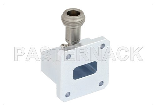 WR-75 Square Type Flange to N Female Waveguide to Coax Adapter Operating From 10 GHz to 15 GHz, X-Ku Band