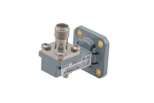 WR-28 UG-599/U Square Cover Flange to 2.92mm Female Waveguide to Coax Adapter Operating From 26.5 GHz to 40 GHz, Ka Band