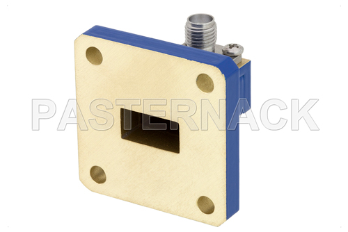 WR-51 Square Cover Flange to SMA Female Waveguide to Coax Adapter Operating From 15 GHz to 22 GHz, N Band