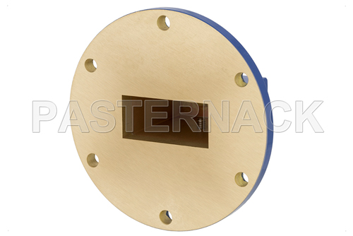 WR-137 UG-344/U Round Cover Flange to SMA Female Waveguide to Coax Adapter Operating From 5.85 GHz to 8.2 GHz, C Band