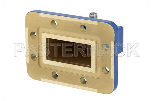 WR-137 CPR-137G Grooved Flange to SMA Female Waveguide to Coax Adapter Operating From 5.85 GHz to 8.2 GHz, C Band