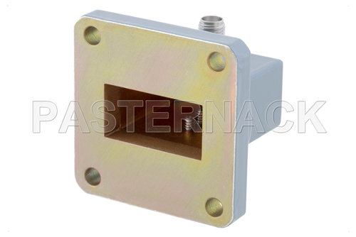 WR-102 UG-1493/U Square Cover Flange to SMA Female Waveguide to Coax Adapter Operating from 7 GHz to 10 GHz