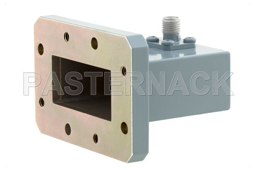 WR-137 CMR-137 Flange to SMA Female Waveguide to Coax Adapter, 5.85 GHz to 8.2 GHz, C Band, Aluminum, Paint