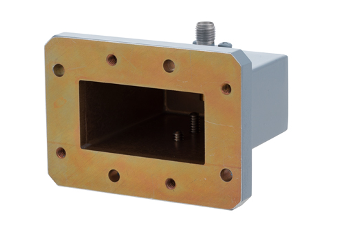 WR-159 CMR-159 Flange to SMA Female Waveguide to Coax Adapter Operating from 4.9 GHz to 7.05 GHz