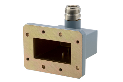 WR-159 CMR-159 Flange to N Female Waveguide to Coax Adapter Operating from 4.9 GHz to 7.05 GHz