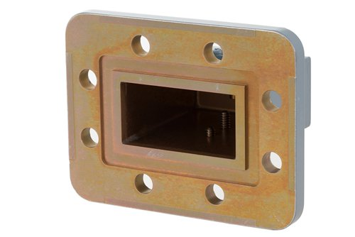 WR-159 CPR-159G Grooved Flange to SMA Female Waveguide to Coax Adapter Operating from 4.9 GHz to 7.05 GHz