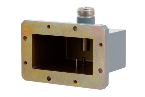WR-229 CMR-229 Flange to N Female Waveguide to Coax Adapter Operating from 3.3 GHz to 4.9 GHz
