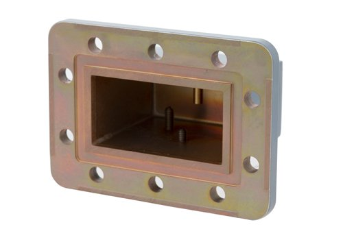 WR-229 CPR-229G Grooved Flange to SMA Female Waveguide to Coax Adapter Operating from 3.3 GHz to 4.9 GHz
