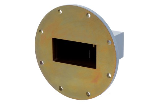 WR-284 UG-584/U Round Cover Flange to N Female Waveguide to Coax Adapter Operating from 2.6 GHz to 3.95 GHz