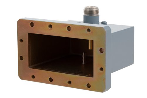 WR-284 CMR-284 Flange to N Female Waveguide to Coax Adapter Operating from 2.6 GHz to 3.95 GHz
