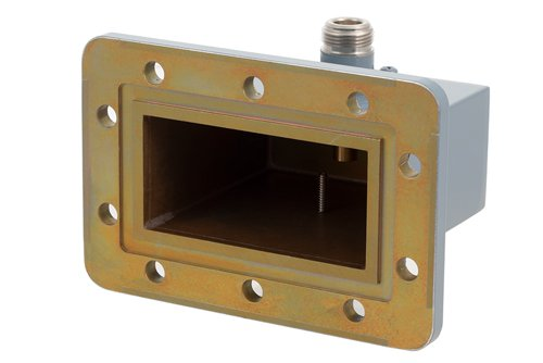 WR-284 CPR-284G Grooved Flange to N Female Waveguide to Coax Adapter Operating from 2.6 GHz to 3.95 GHz