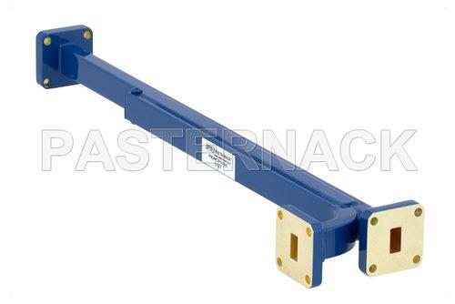 WR-34 20 dB Directional Waveguide Broadwall Coupler, UG-1530/U Square Cover Flange, E-Plane Coupled Port, 22 GHz to 33 GHz