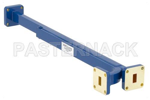 WR-34 30 dB Directional Waveguide Broadwall Coupler, UG-1530/U Square Cover Flange, E-Plane Coupled Port, 22 GHz to 33 GHz