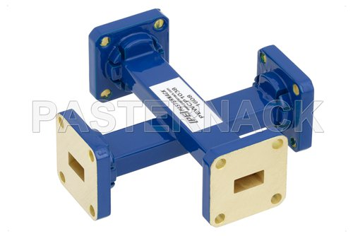WR-34 50 dB Waveguide Crossguide Coupler, UG-1530/U Square Cover Flange, 22 GHz to 33 GHz