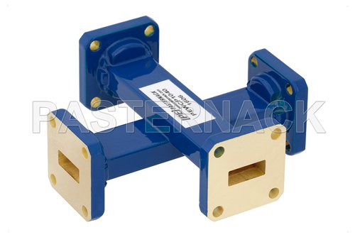 WR-42 30 dB Waveguide Crossguide Coupler, UG-595/U Square Cover Flange, 18 GHz to 26.5 GHz