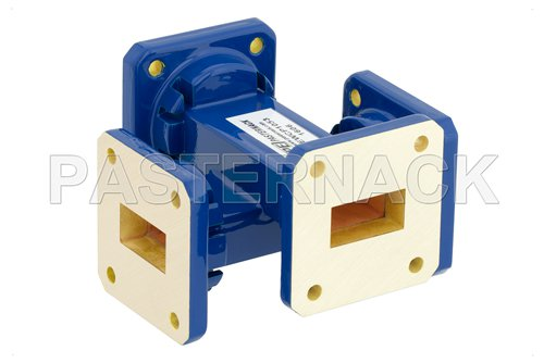 WR-75 40 dB Waveguide Crossguide Coupler, Square Cover Flange, 10 GHz to 15 GHz
