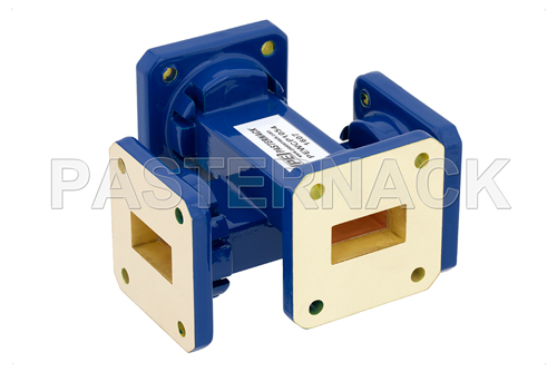 WR-75 50 dB Waveguide Crossguide Coupler, Square Cover Flange, 10 GHz to 15 GHz