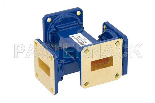 WR-90 30 dB Waveguide Crossguide Coupler, UG-39/U Square Cover Flange, 8.2 GHz to 12.4 GHz