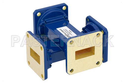 WR-90 40 dB Waveguide Crossguide Coupler, UG-39/U Square Cover Flange, 8.2 GHz to 12.4 GHz
