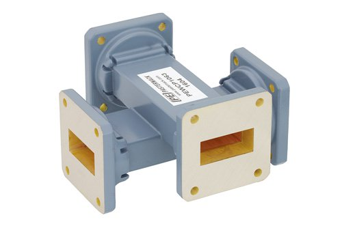WR-112 20 dB Waveguide Crossguide Coupler, UG-51/U Square Cover Flange, 7.05 GHz to 10 GHz